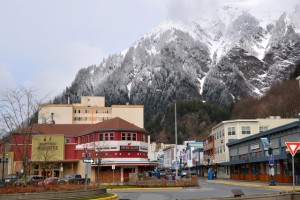 Downtown Juneau and the popular Red Dog Saloon.