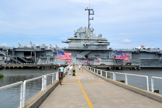 The USS Yorktown is now at anchor in Charlotte Habor after serving in WWII and Vietnam.