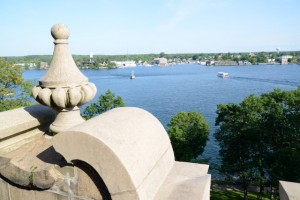 The St. Lawrence River from the top of Boldt Castle.