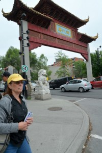 Oriental gate welcomes visitors to Montreal's China Town.