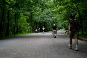 The uphill hike of Montreal's Mount Royal park.