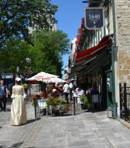 Most restaurants in Quebec City offer street-side seating during summer months.