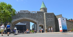 The wall around Quebec City is the oldest fortified city wall in North America.  The fortifications were designated a National Historic Site of Canada in 1948.