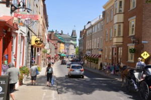 Window shopping in Old Quebec.