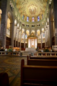 The interior of St. Anne's Cathedral.