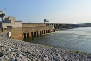 Below the Kentucky Dam at the Land Between the Lakes recreation area near Paducah, KY.