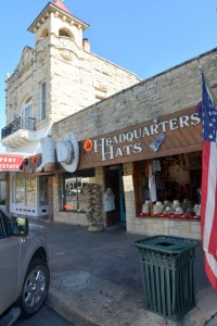 Texas hats are featured in this store in Fredricksburg, TX.