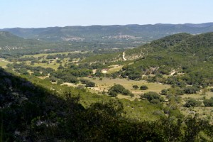 Scenic vistas between Kerrville and Utopia, TX.