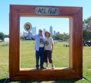 The Hughes' reminder of their trip to the Austin Music Festival.