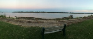 A wide angle view of the Mississippi River from the Green Knight.