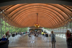 The full-service restaurant and coffee bar at Crystal Bridges.