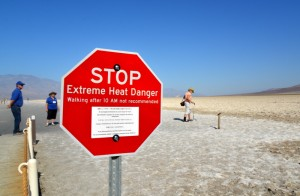 Visitors warned of dangerously  high temperatures after 10 a.m. at Death Valley National Park.