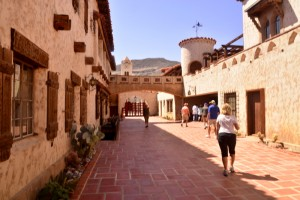 The courtyard at Scotty's Castle, a 8,000 square foot mansion that was never completed.