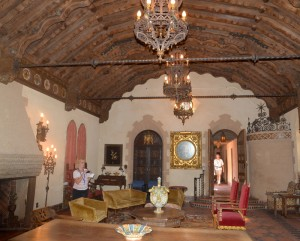 One of the interior rooms at Scotty's Castle.