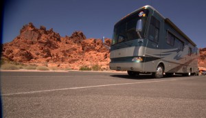The Hughes's 2006 Monaco Knight at Valley of Fire State Park near Moapa