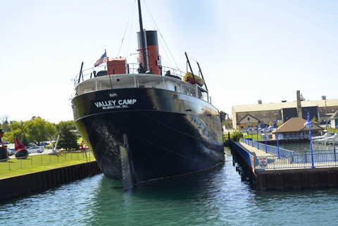 Renewing the Tim Horton habit and touring the locks at Sault Ste. Marie, Canada