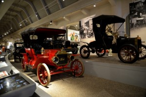 Among the collection of early era automobiles at the Henry Ford Museum.