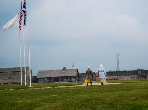The courtyard inside Old Fort Niagara.