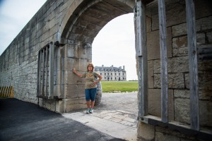 The Castle in the background at one of the openings to Old Fort Niagara. The fort is located in Youngstown, NY.