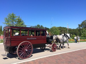 Guests at the Victorian Grand Hotel are picked up at the ferry dock by carriage.