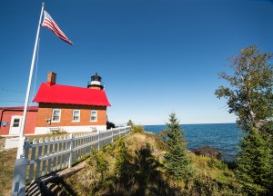 The lighthouse at Eagle Harbor, Michigan.