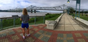 Vidalia, LA., has a lengthy paved river walk along the Mississippi River across from Natchez, MS.