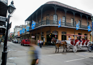 Taking a carriage ride in the French Quarters.