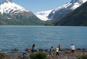 Portage Glacier, located near Girdwood, AK, is visible in the backgtround.