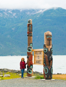 Totems in a Haines waterfront park.