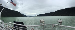 Cruising the Lynn Canal from Haines to Skagway, AK aboard the Leconte Ferry.
