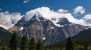 Mount Robson is the largest mountain in the Canadian Rockies and is located within Mount Robson Provincial Park.