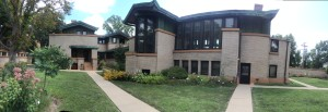 A Frank Lloyd Wright home built in the early 1900's in Springfield, ILL.