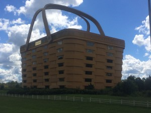The former headquarters of Longaberger Company near Newark, Ohio, is shaped like a giant version of the company's signature product — a basket. The building is empty, a victim of the recession.