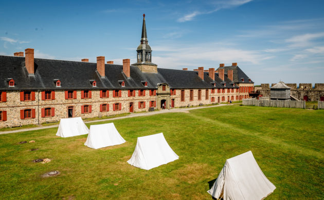 French built largest fort in North America at Louisbourg NS