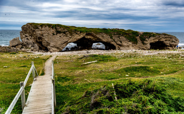 Newfoundland's Arches Provincial Park offers nice scenery, picnic area