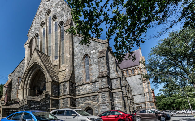 Historic churches in downtown St. John's Newfoundland