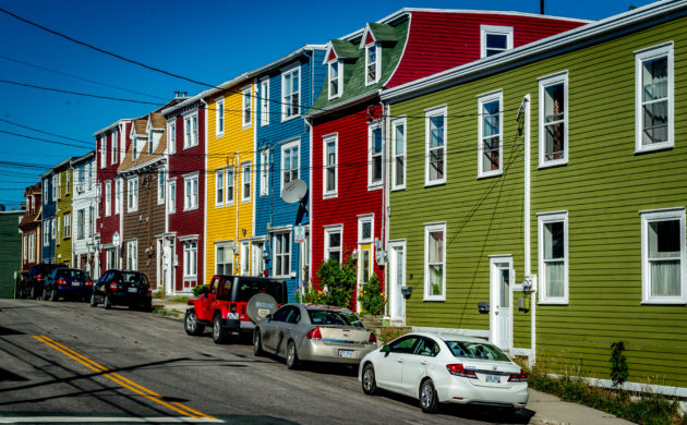 The colorful homes of St. John's, Newfoundland